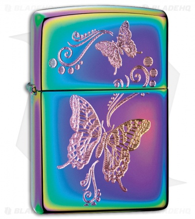 Zippo Lighter Spectrum Finish Butterflies 28442