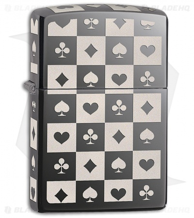 Zippo Lighter Card Suits 11441