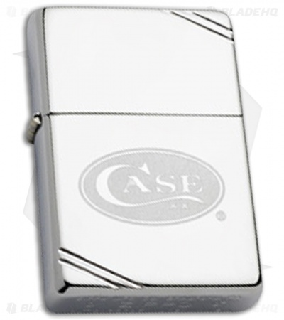 Zippo Lighter Polished Chrome Case Logo 50063