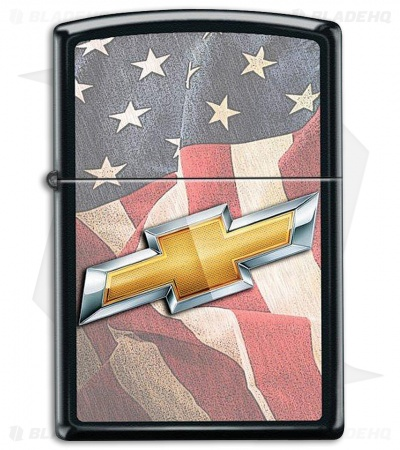 Zippo Lighter Black Matte Chevy USA 16230