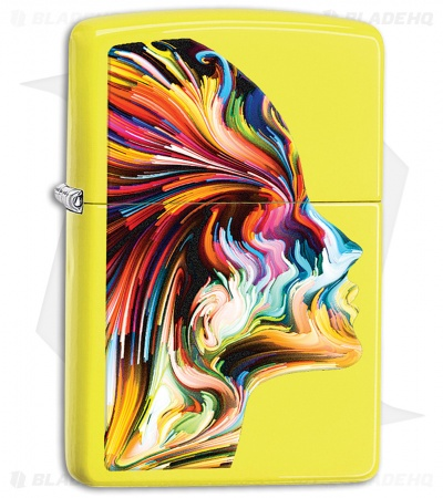 Zippo Lighter Yellow Colorful Head 11440