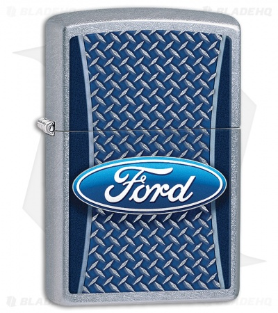 Zippo Lighter Brushed Chrome Ford Logo 11410