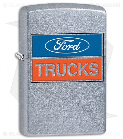 Zippo Light Brushed Chrome Ford Trucks Logo 11411
