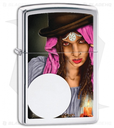 Zippo Lighter Polished Chrome Fortune Teller 28656