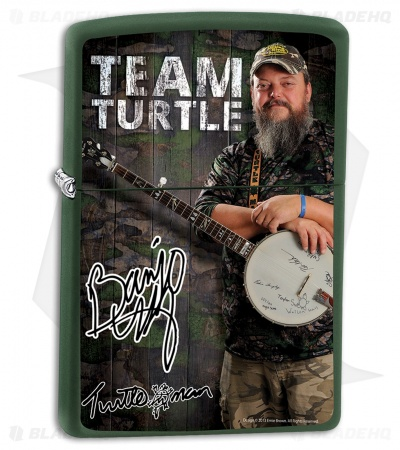 Zippo Lighter Matte Green Turtleman Banjo ZPTM2