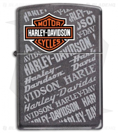 Zippo Lighter Dusk Gray Harley Repeated Logo 11687