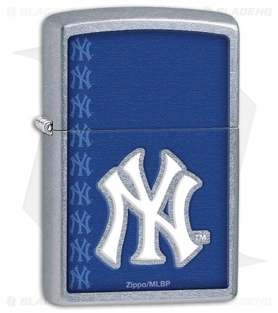 Zippo Lighter Street Chrome MLB New York Yankees 11490