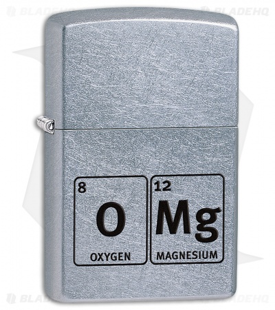 Zippo Lighter Brushed Chrome OMG Element 11409