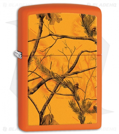 Zippo Lighter Matte Orange Realtree AP Blaze 11607