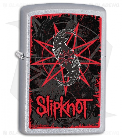 Zippo Lighter Satin Chrome Slipknot 28993