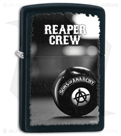 Zippo Lighter Black Matte Sons of Anarchy 28677