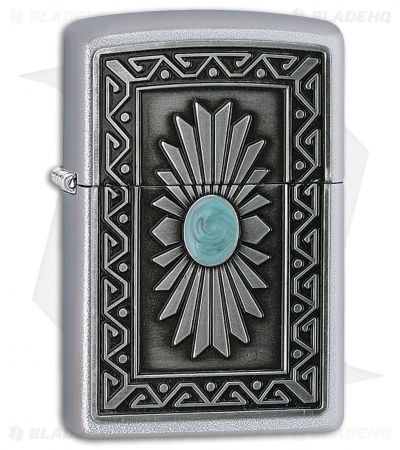 Zippo Lighter Brushed Chrome Southwest Sun 11488