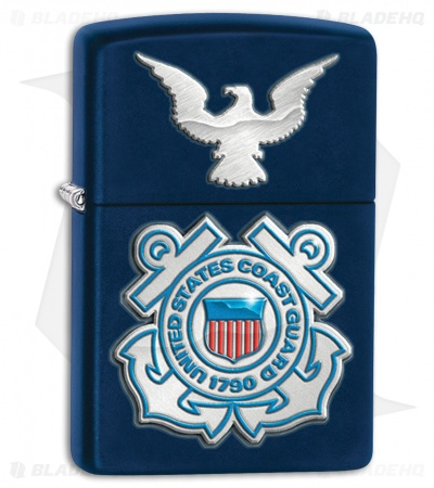 Zippo Lighter Blue Matte United States Coast Guard 28681