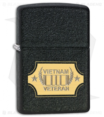 Zippo Lighter Black Crackle Vietnam War 28875