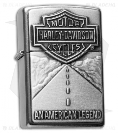 Zippo Classic Lighter Harley Davidson American Legend (Street Chrome) 20229