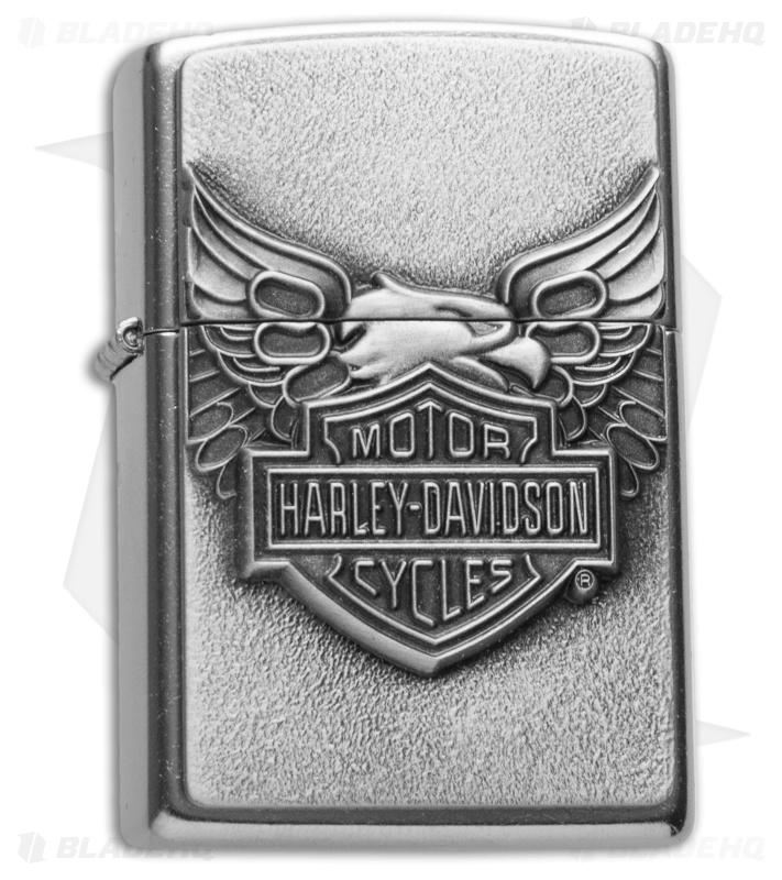 Zippo Clic Lighter Harley Davidson Iron Eagle Emblem (Street ...