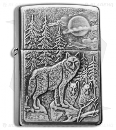 Zippo Classic Lighter Timberwolves (Brushed Chrome) 20855