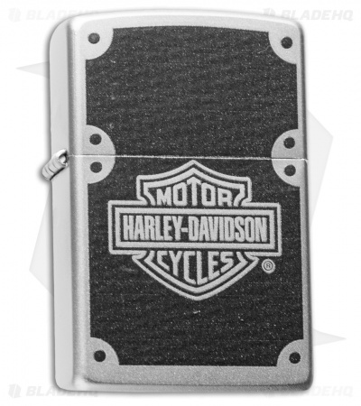 Zippo Classic Lighter Harley Davidson Carbon Fiber (Satin Chrome) 24025