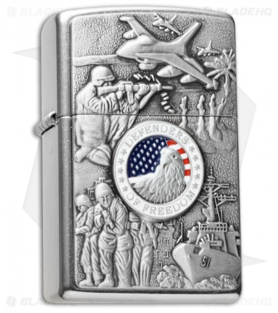 Zippo Classic Lighter Joined Forces Emblem (Street Chrome) 24457