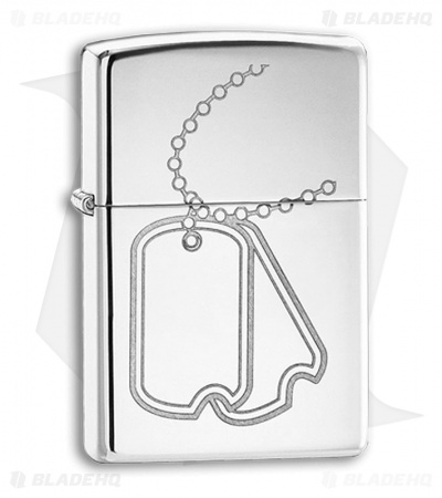 Zippo Lighter - Dog Tags 24836 High Polish Chrome