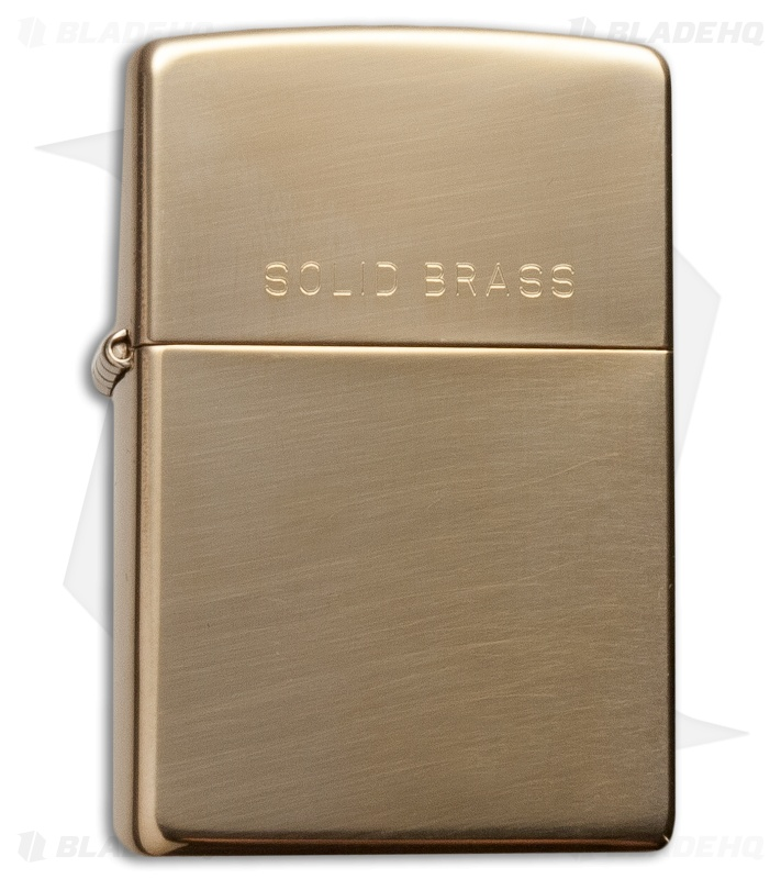 zippo classic lighter high polish brass 254 blade hq