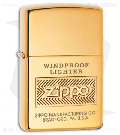 Zippo Lighter Windproof High Polish Brass 28145