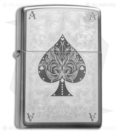 Zippo Classic Lighter Ace Filigree (Black Ice) 28323