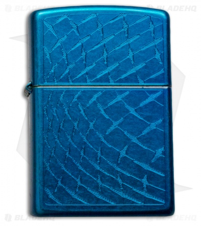 Zippo Classic Lighter Iced Diamond Plate (Cerulean) 28341