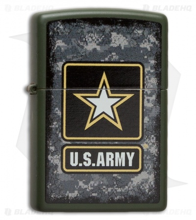 Zippo Matte Black US Army - Star Logo Lighter 28512