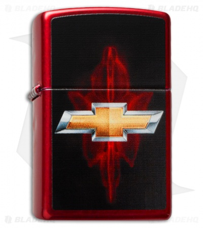 Zippo Classic Lighter Chevy Bowtie (Candy Apple Red) 28636
