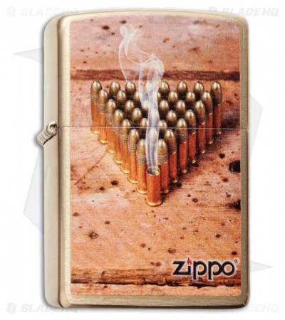 Zippo Classic Lighter Bullets (Brushed Brass) 28674