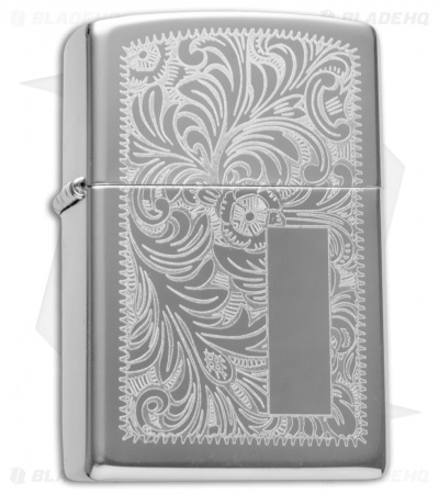 Zippo Classic Lighter Regular Venetian (High Polish Chrome) 352