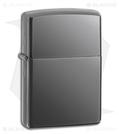 Zippo Black Ice Lighter w/ High Polish Dark Mirror 150