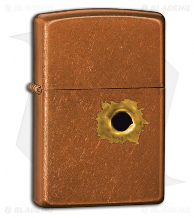 Zippo Classic Lighter Bullet Hole (Toffee) 24717