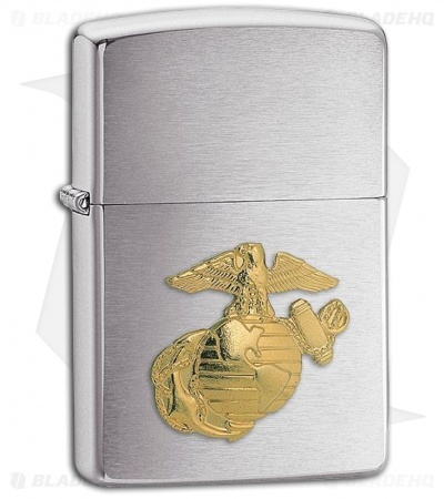 Zippo Lighter Brushed Chrome Marine 280MAR