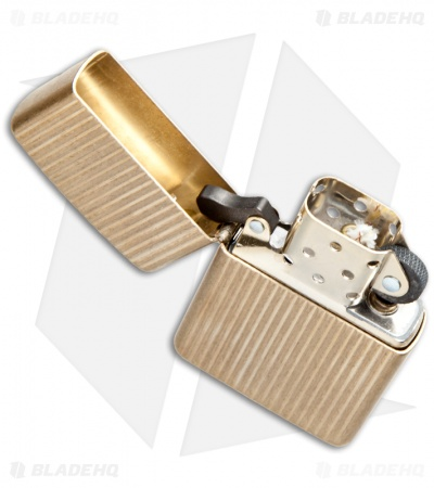 Zippo Lighter 350 Reg Engine Turned (Brass)