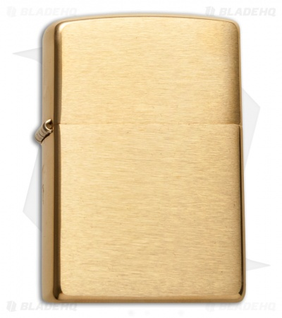 Zippo Classic Lighter Regular Brushed Brass 204B