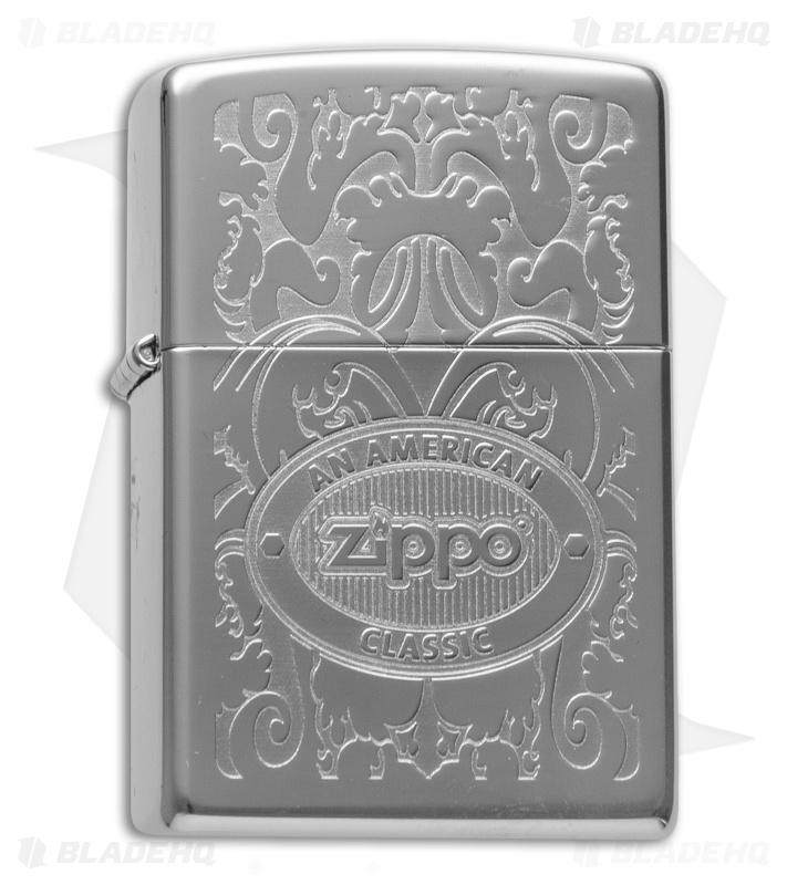 Zippo Classic Lighter Crown Stamp American Classic High Polish