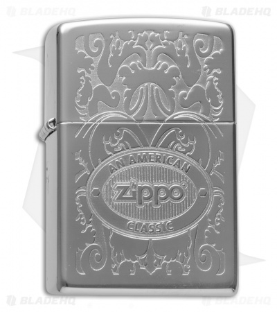 Zippo Classic Lighter Crown Stamp American Classic (High Polish Chrome) 24751