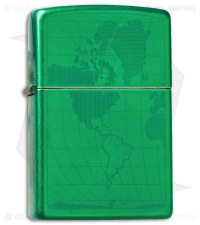 Zippo Classic Lighter Iced World (Meadow Green) 28340
