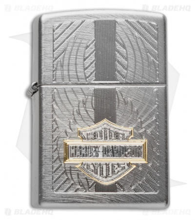 Zippo Classic Lighter Harley Davidson (Chrome Arch) 28486