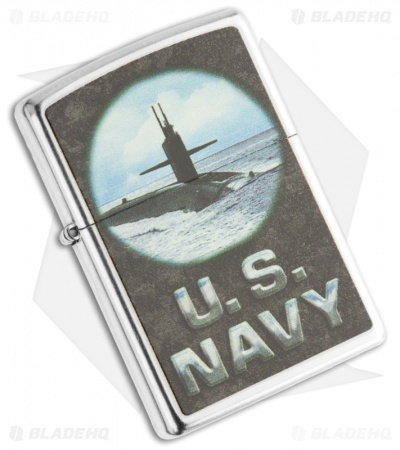Zippo Chrome US Navy - Submarine Lighter 28579