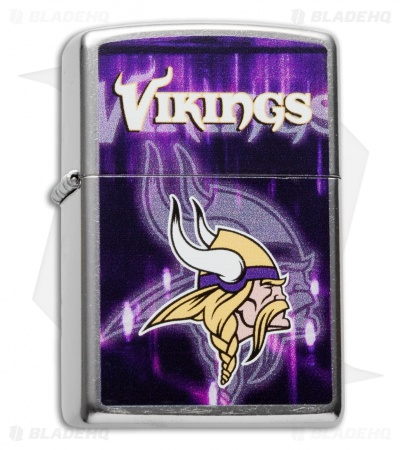 Zippo Classic Lighter NFL Vikings (Street Chrome) 28615
