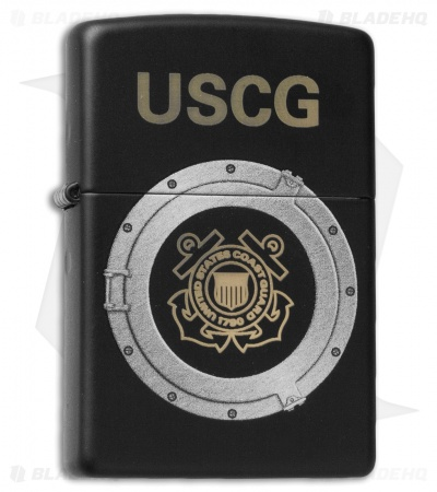 Zippo Classic Lighter U.S. Coast Guard (Black Matte) 28623