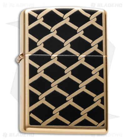 Zippo Classic Lighter Fence Design (High Polish Brass) 28675