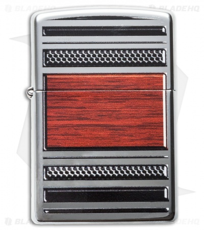 Zippo Pipe Lighter Steel & Wood Chrome 28676