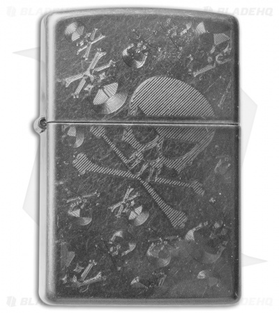 Zippo Classic Lighter Iced Skulls Regular (Gray Dusk) 28685