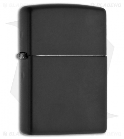 Zippo Lighter Regular Black Matte 218
