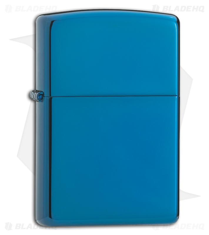 Sapphire Blue Zippo Lighter 20446 Blade Hq