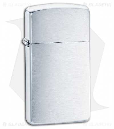 Zippo Lighter Slim Brushed Chrome 1600